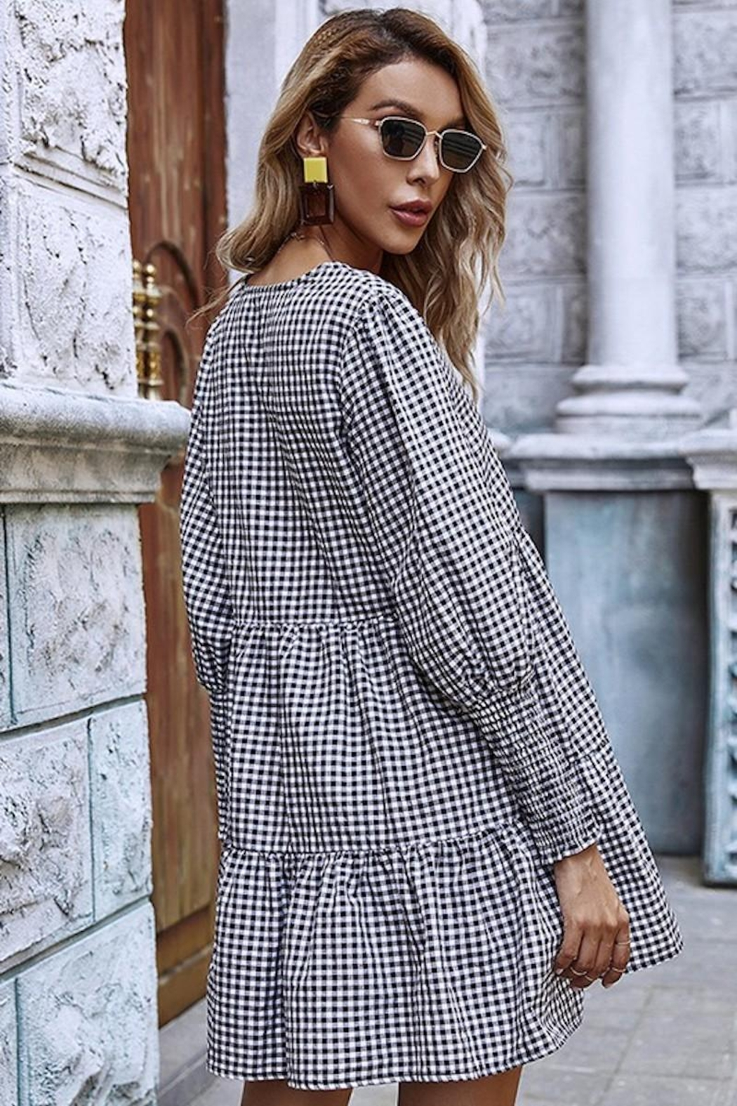 Esley Collection You Had Me At Gingham - Back Cropped Image