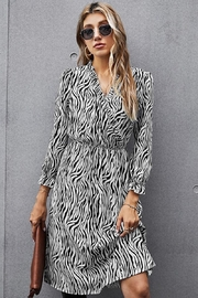 Esley Collection Zebra Stripes Classy Midi - Product Mini Image