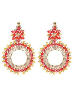Shoptiques Product: Paloma Red Gold Earrings