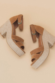 miracle miles  Espadrille Chunky Platform Sandal - Front cropped