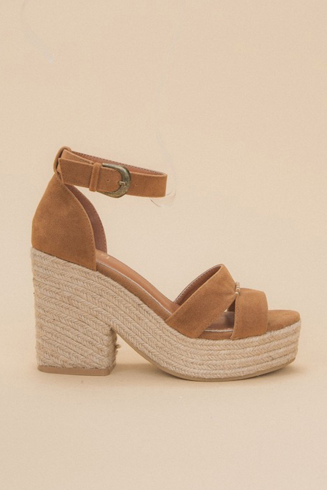 miracle miles  Espadrille Chunky Platform Sandal - Front Full Image