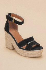 miracle miles  Espadrille Chunky Platform Sandal - Front full body