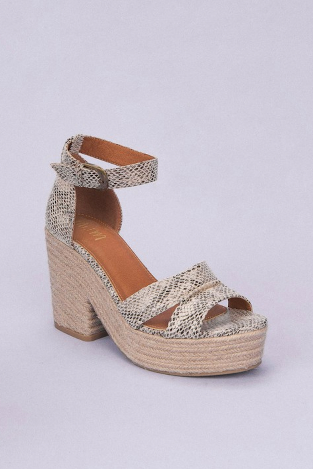 miracle miles  Espadrille Chunky Platform Sandal - Front Cropped Image