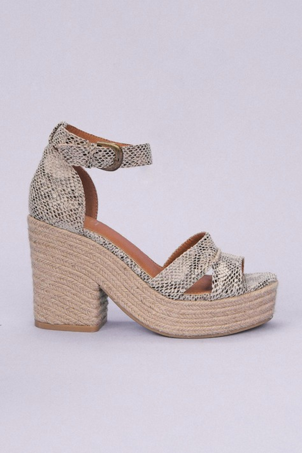 miracle miles  Espadrille Chunky Platform Sandal - Side Cropped Image