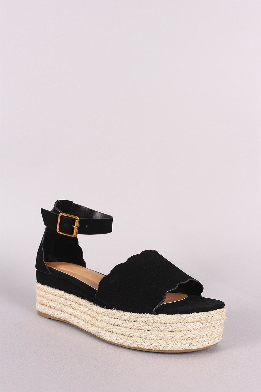 Bamboo Espadrille Wedge - Front Cropped Image
