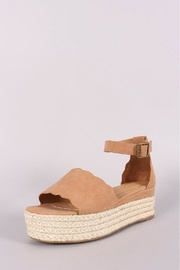 Bamboo Espadrille Wedge - Front full body