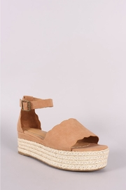 Bamboo Espadrille Wedge - Front cropped