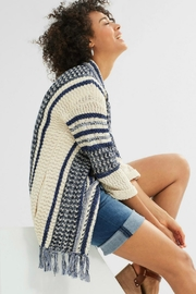 Esprit Fringed Cardigan Sweater - Side cropped