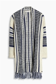 Esprit Fringed Cardigan Sweater - Front cropped
