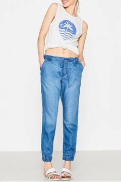 Shoptiques Product: Denim Tracksuit Trousers