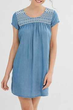 Shoptiques Product: Embroidered Flowing Denim