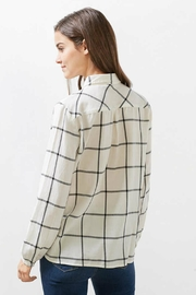 Esprit Plaid Woven Top - Front full body