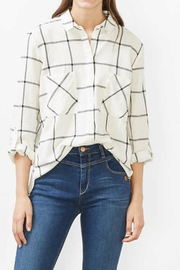 Esprit Plaid Woven Top - Front cropped