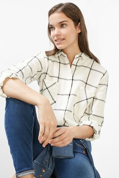 Esprit Plaid Woven Top - Alternate List Image