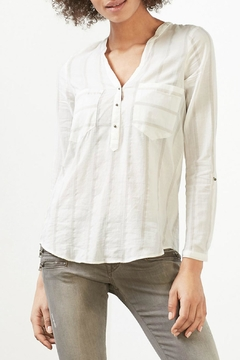 Esprit Textured Striped Blouse - Product List Image