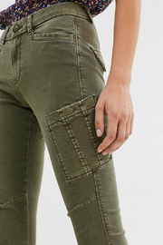 ESPRIT jewel Khaki Woven Pants - Back cropped