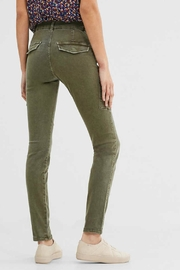 ESPRIT jewel Khaki Woven Pants - Front full body