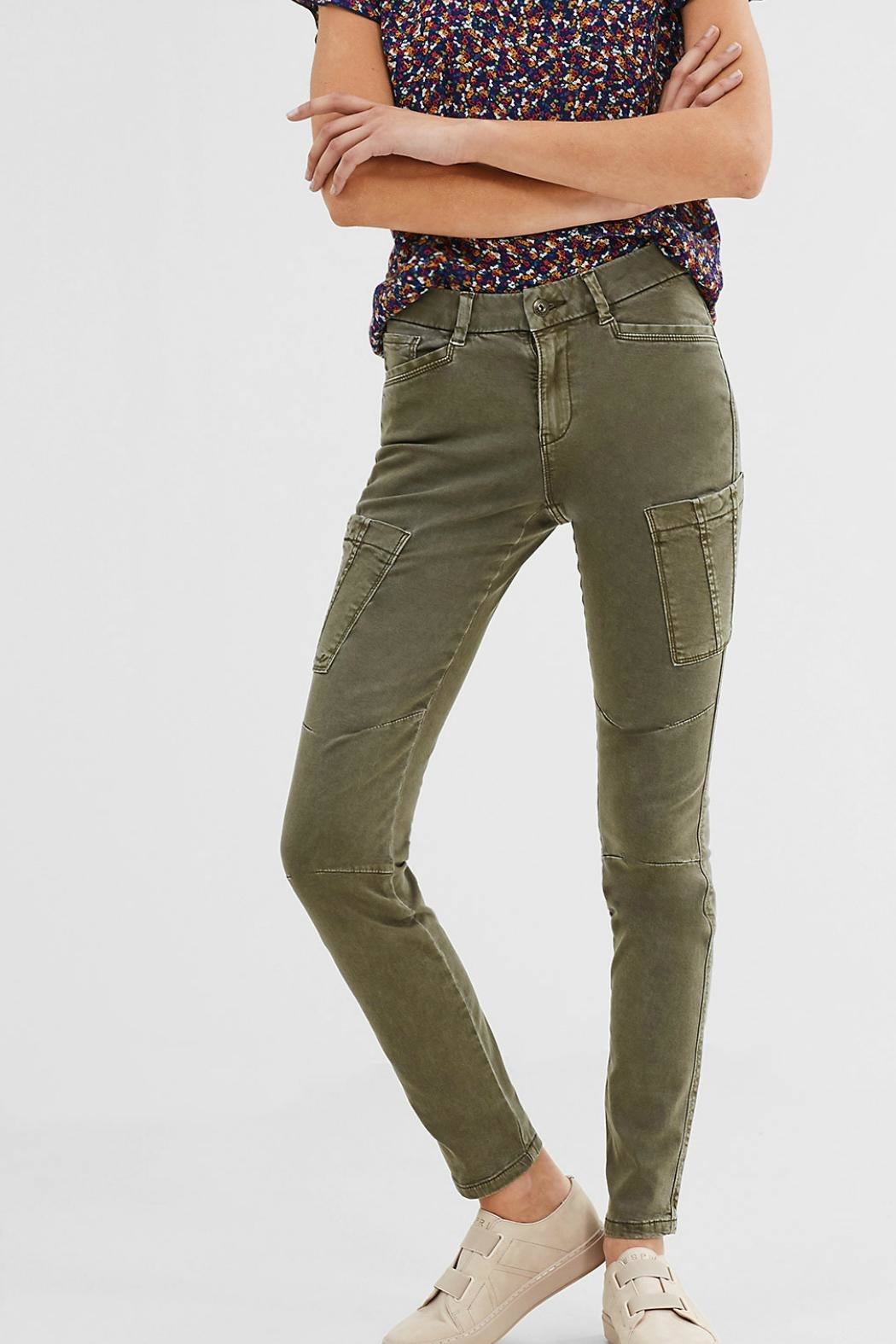 ESPRIT jewel Khaki Woven Pants - Main Image