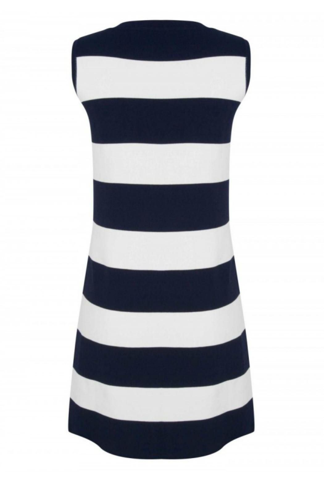 EsQualo Knit Stripe Dress - Front Full Image