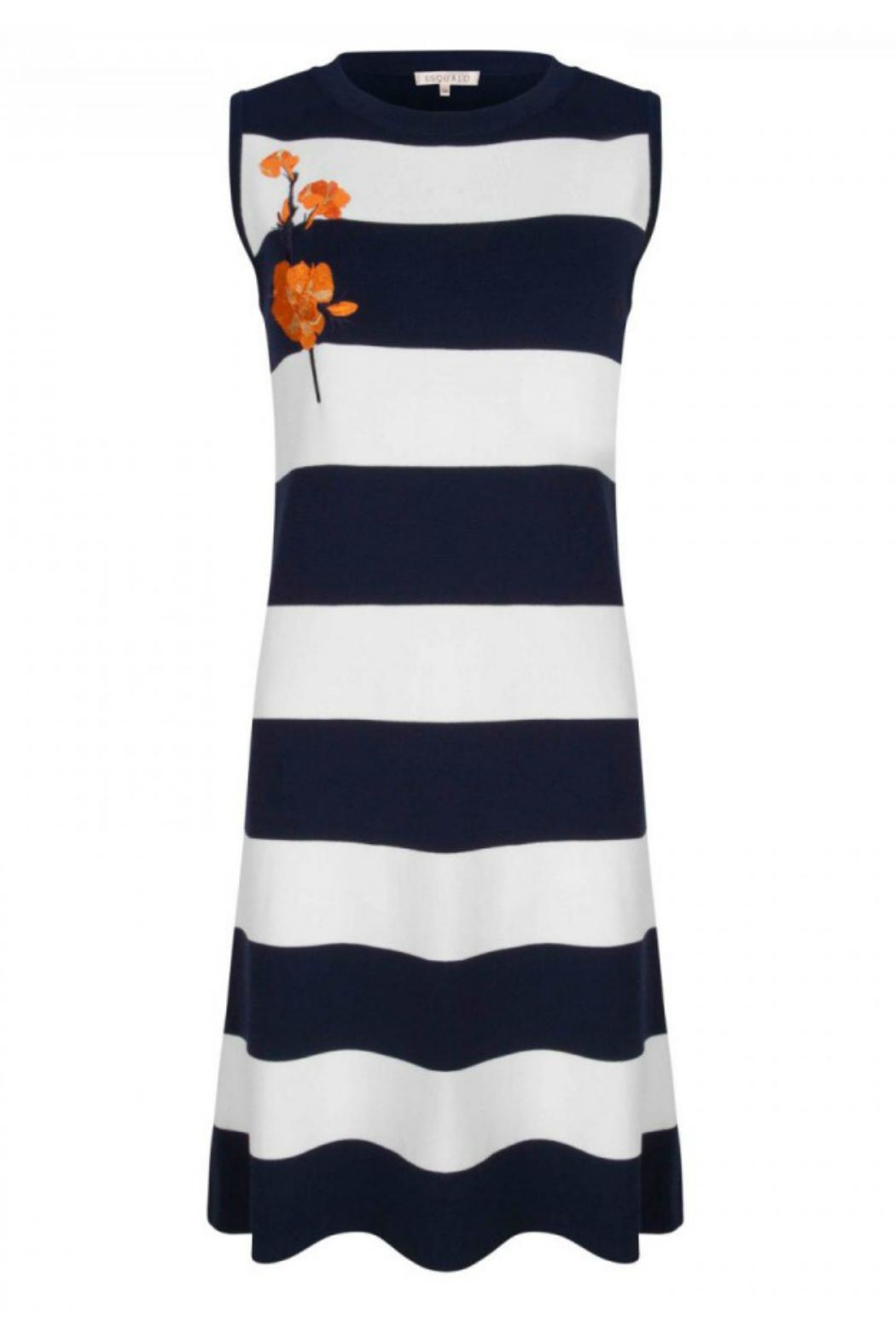 EsQualo Knit Stripe Dress - Main Image