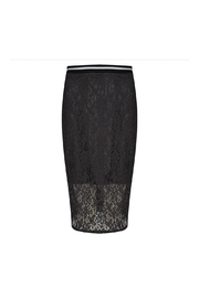 EsQualo Lace Metallic Skirt - Front cropped