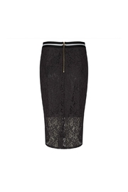 EsQualo Lace Metallic Skirt - Front full body