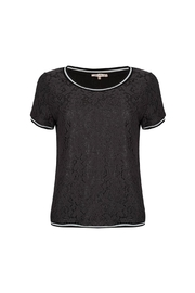 EsQualo Lace Metallic Top - Front cropped