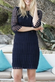 EsQualo Navy Lace Dress - Product Mini Image