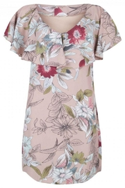EsQualo Volant Print Dress - Product Mini Image