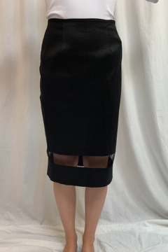 Shoptiques Product: ESS156 - Sheer band Pencil Skirt, Size 8 & 16