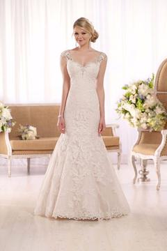 Essense of Australia Beaded Fit & Flare Gown - Product List Image