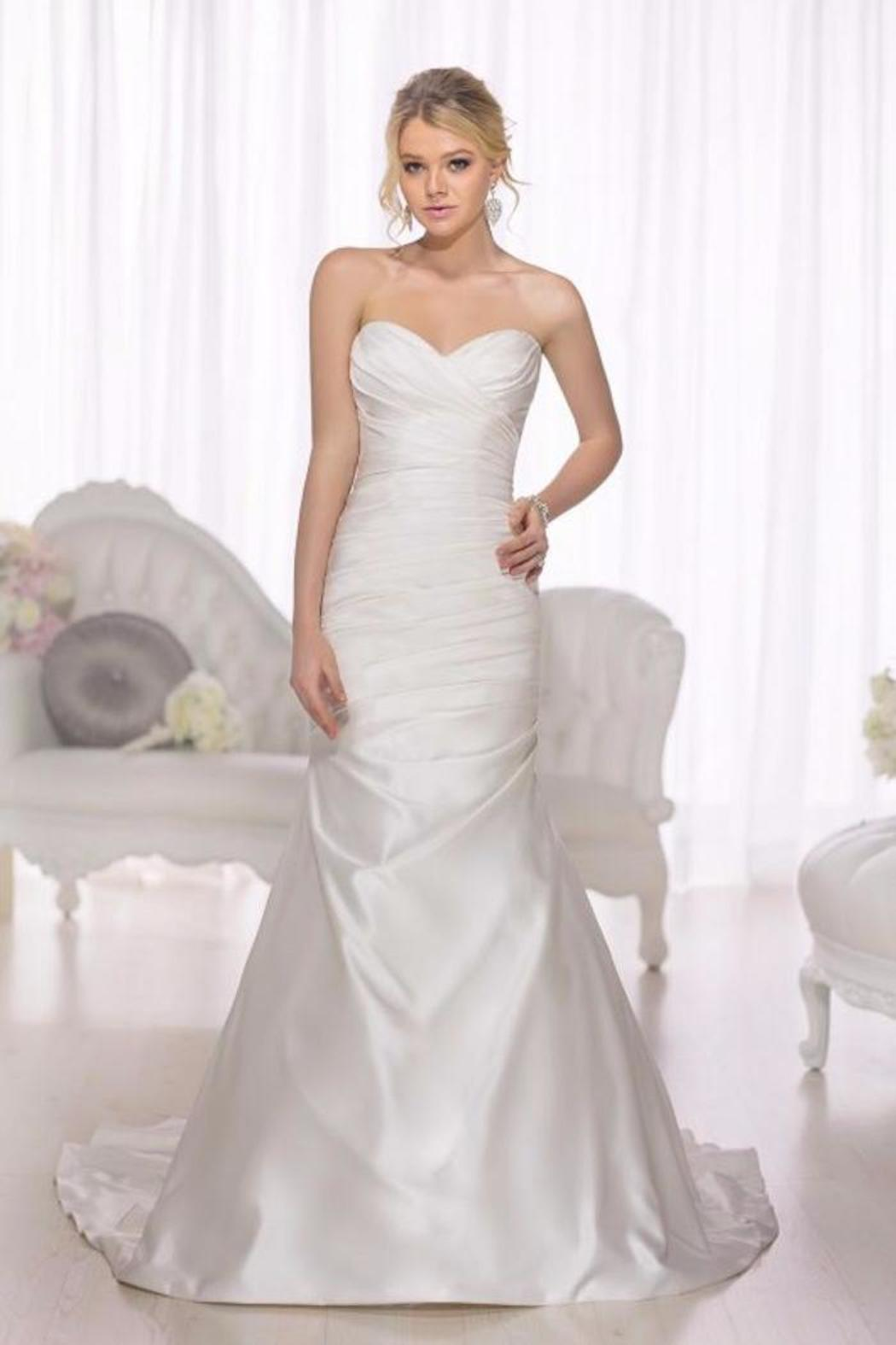 Essense of australia satin fit n flare gown from texas by for Satin fit and flare wedding dress