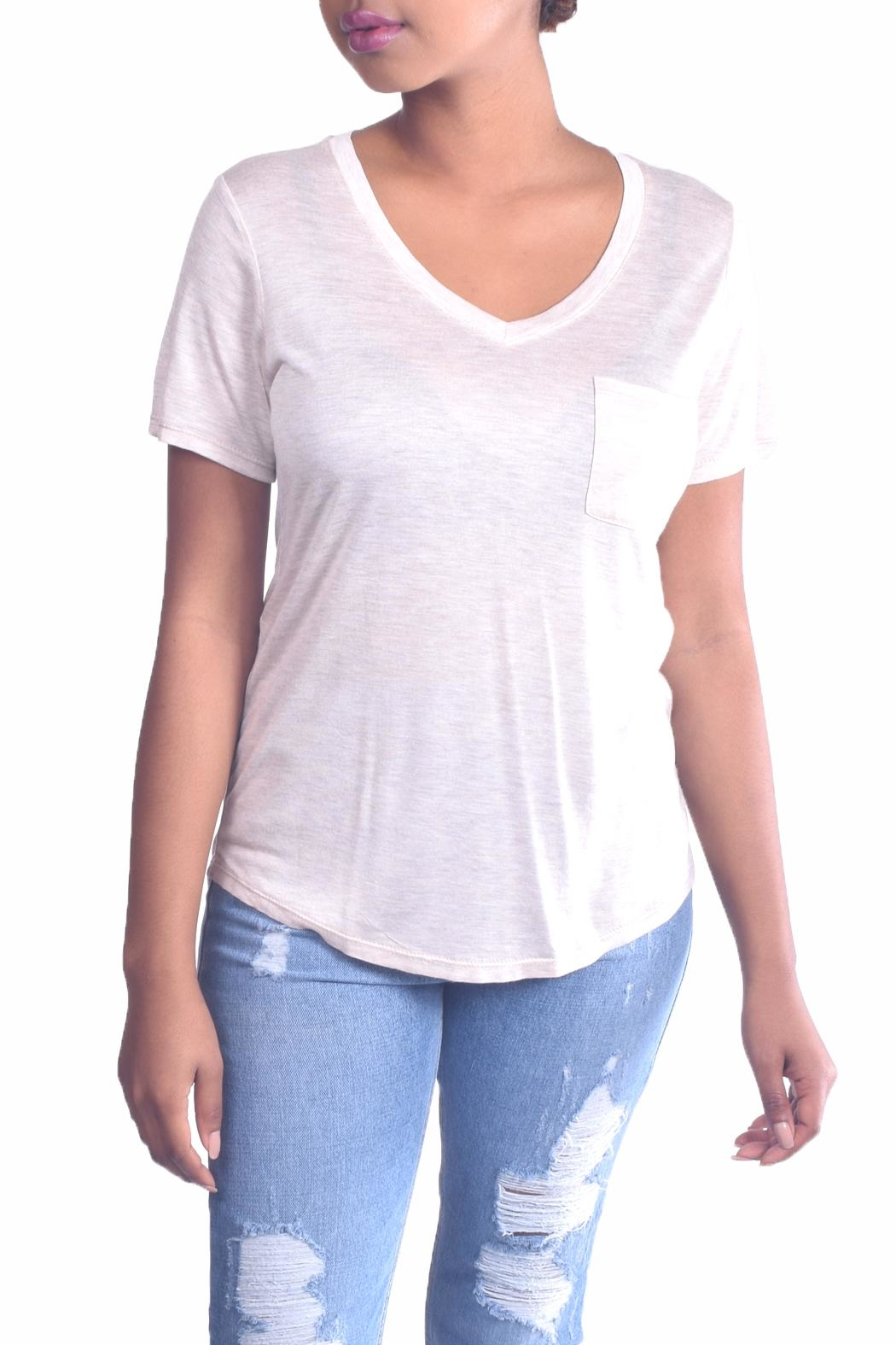Color Thread Essential Boyfriend Tee - Front Full Image