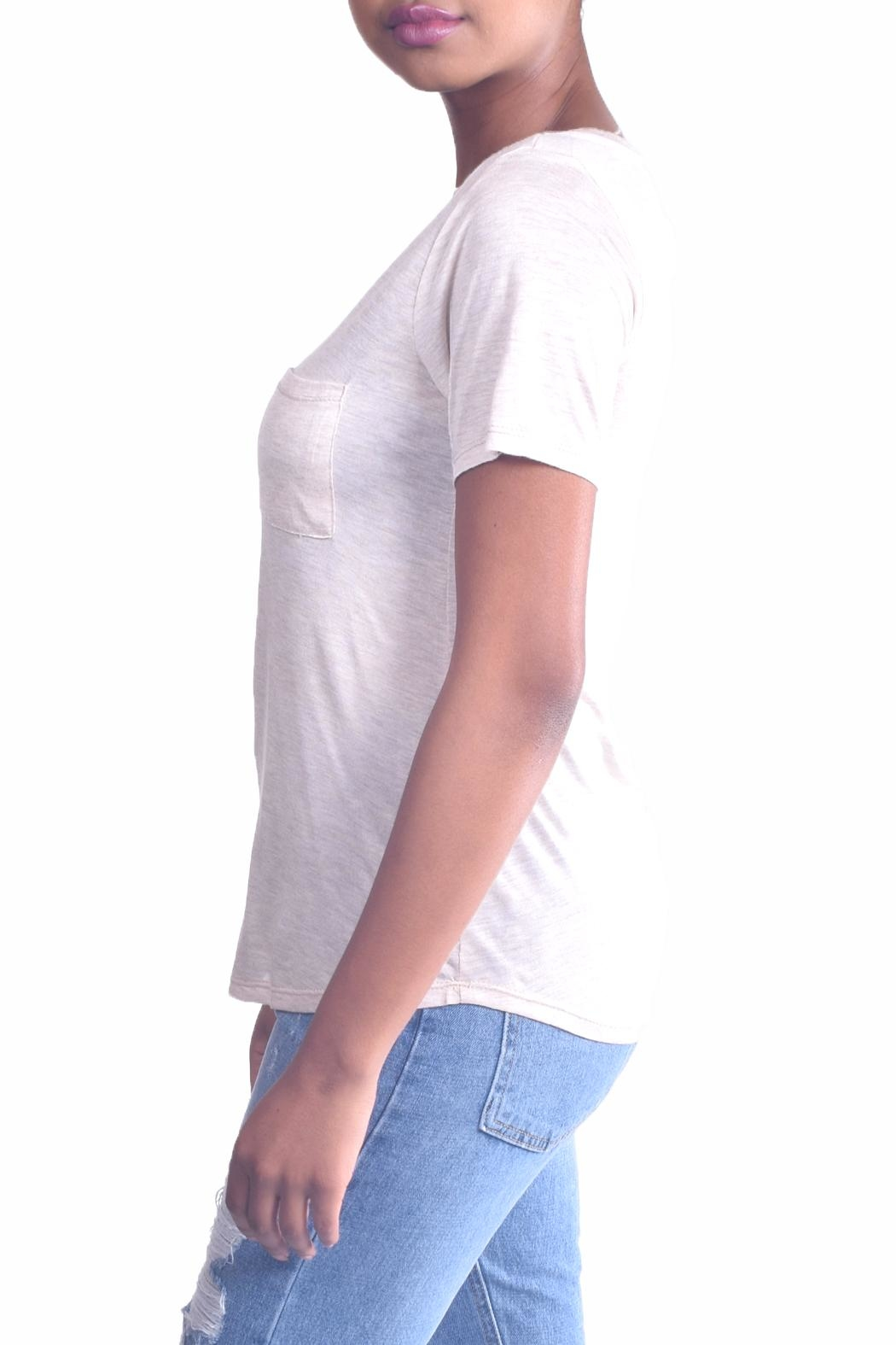 Color Thread Essential Boyfriend Tee - Side Cropped Image