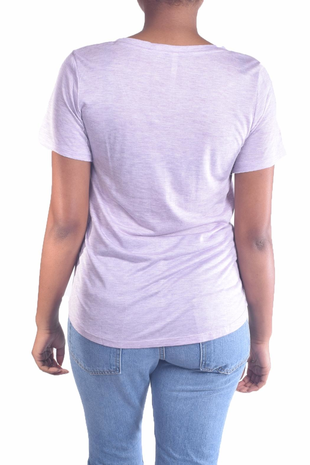 Color Thread Essential Boyfriend Tee - Back Cropped Image