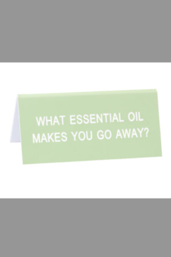 About Face Designs Essential Oil Sign - Alternate List Image