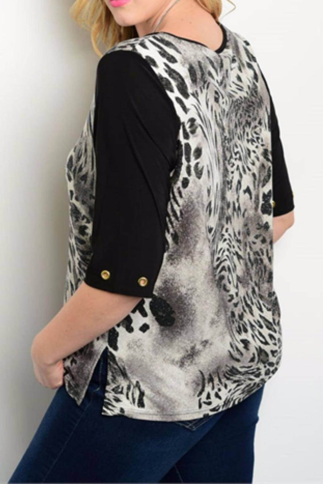 Essential Plus Size Animal Top - Front Full Image