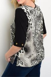 Essential Plus Size Animal Top - Front full body