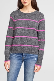 White + Warren Essential Striped Sweatshirt - Product Mini Image