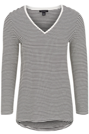 Tribal  Essential Striped V Neck Tee - Front cropped
