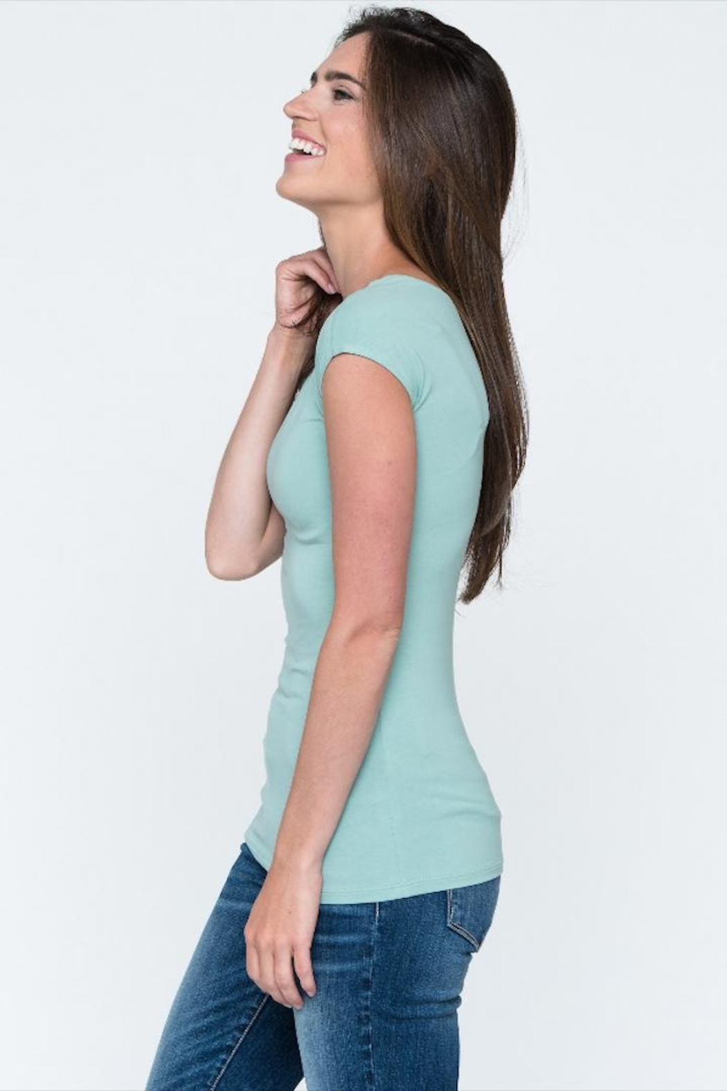 Downeast Basics Essential Tee - Front Full Image
