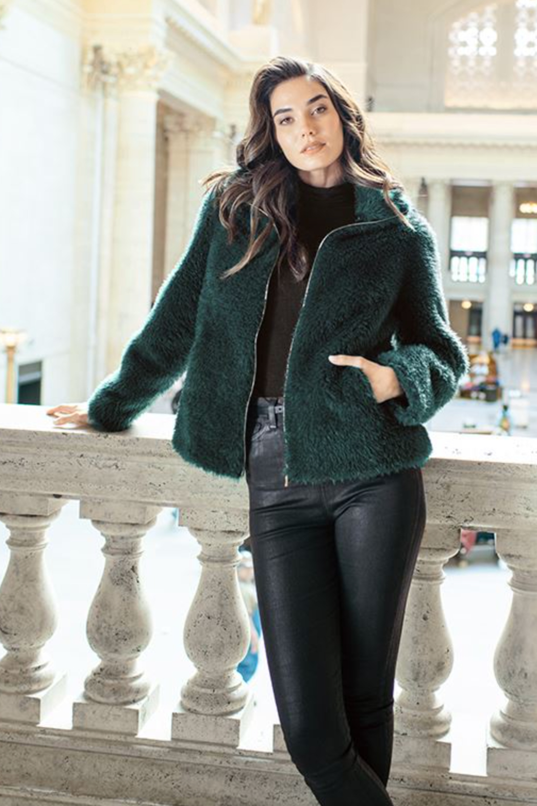 Fabulous Furs Essential Zip Jacket - Side Cropped Image