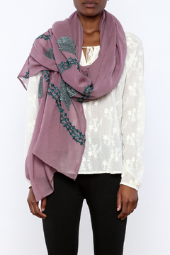 Shoptiques Product: Sequin Embroidered Scarf