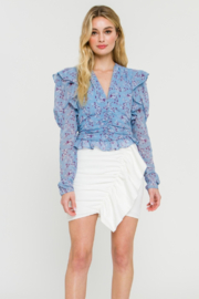 Endless Rose Essie Floral Chiffon Blouse - Product Mini Image