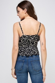 essue Black Cheetah Top - Back cropped