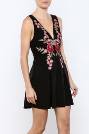 essue Black Embroidered Dress - Product Mini Image