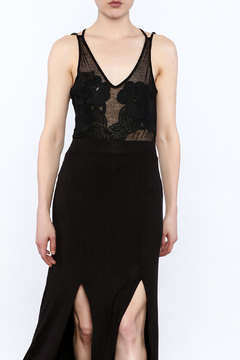 Shoptiques Product: Black Lace Sleeveless Bodysuit