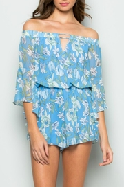 essue Blue Floral Romper - Product Mini Image