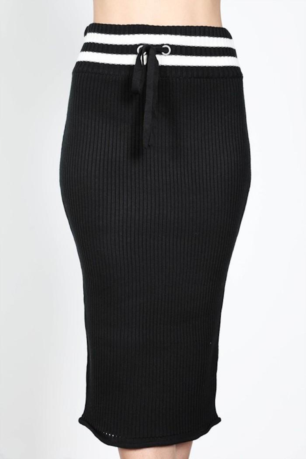essue Bodycon Stripe Skirt - Side Cropped Image