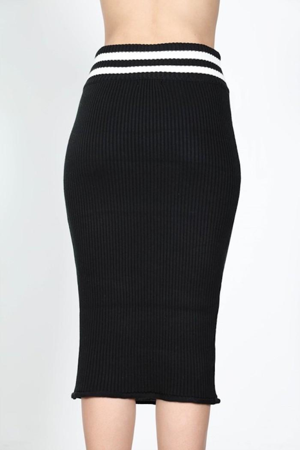 essue Bodycon Stripe Skirt - Front Full Image